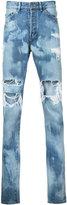 Hl Heddie Lovu distressed bleach jeans