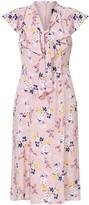 Adrianna Papell Vintage Ditsy Ruffle Midi Dress