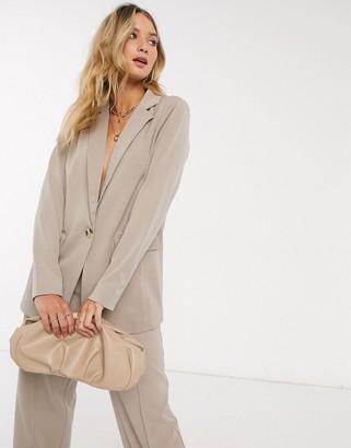 BEIGE Y.A.S tailored blazer co ord in