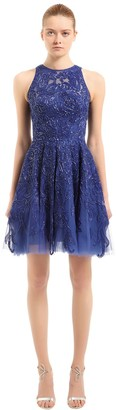 ZUHAIR MURAD Floral Beaded Tulle Dress