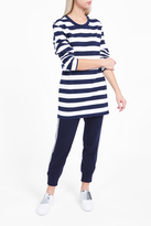 Norma Kamali Boyfriend Striped Jumper
