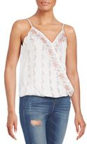 Love Sam Abbie Embellished Cross-Front Top
