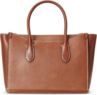 Ralph Lauren Vachetta Leather Large Sloane Satchel