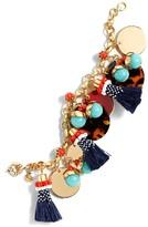J.Crew Women's Fun Tassel Charm Bracelet