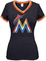 5th & Ocean Women's Miami Marlins Triple Flock T-Shirt