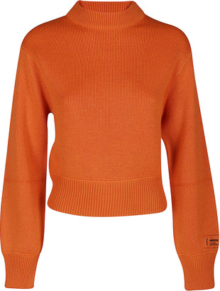 Heron Preston Orange Virgin Wool Blend Jumper