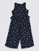 Marks and Spencer All Over Print Frill Jumpsuit (3-16 Years)