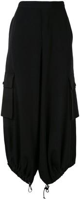 Y's drawstring midi skirt