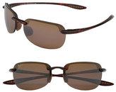Maui Jim 'Sandy Beach Polarizedplus2' 55Mm Semi Rimless Sunglasses - Black