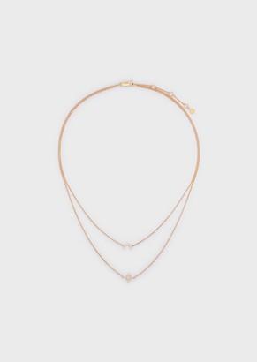 Emporio Armani Women'S Rose Gold-Tone Sterling Silver Multi-Strand Necklace