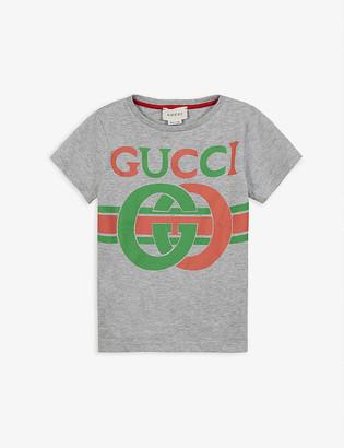 Gucci GG insignia logo-print cotton T-shirt 4-10 years