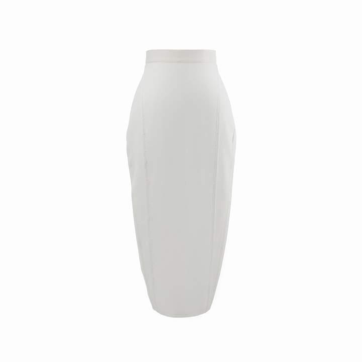 Cream Pencil Skirt