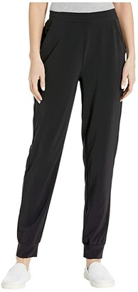 Hue Travel High-Waist Slim Joggers (Black) Women's Casual Pants
