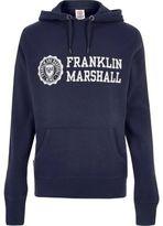 River Island MensNavy Franklin & Marshall print hoodie