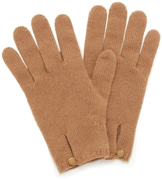 Mulberry Cashmere Gloves Camel Cashmere