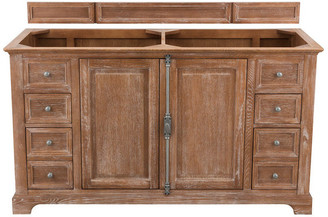 """James Martin Vanities Providence 60"""" Double Vanity, Driftwood, Without Top"""