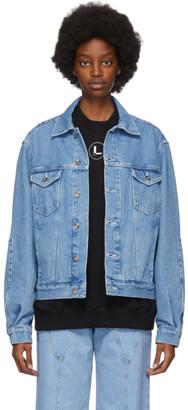 Lourdes Blue Denim Logo Jacket