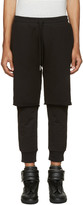 Diesel Black Layered P-Vicente Lounge Pants