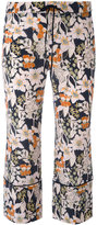 L'Autre Chose floral print cropped trousers - women - Silk - 38