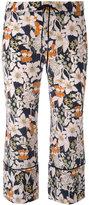L'Autre Chose floral print cropped trousers - women - Silk - 40