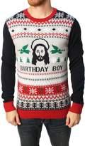 Ugly Christas Sweateren's Jesus Birthday Pullover Sweater-ediu