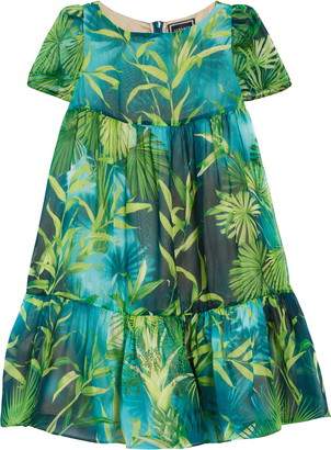 Versace Tropical Silk Dress