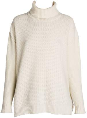 Marni Virgin Wool & Cashmere Open Weave Turtleneck Sweater