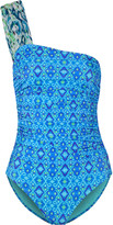 Matthew Williamson One-shoulder printed swimsuit