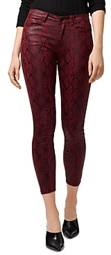 Sanctuary Social Standard High-Rise Ankle Skinny Jeans in Cobra Garnet