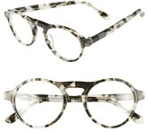 Westward Leaning Women's 'Dyad' 48Mm Sunglasses With Clip-On Lenses - Pepper Tortoise Shiny/ Green