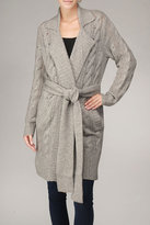 Cable Knit Cashmere Trench