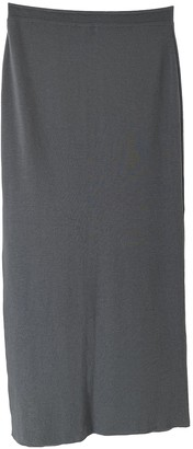 Versace Grey Wool Skirts