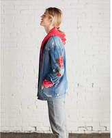Express one eleven velour zip front hoodie