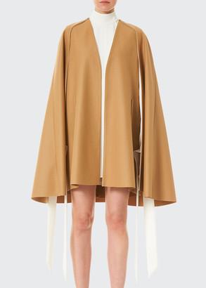 Carolina Herrera Virgin Wool V-Neck Cape