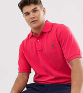 Polo Ralph Lauren Big & Tall player logo pique polo in red