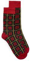 Topman Red Check Socks