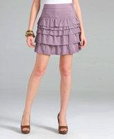 Silky Tiered Skirt