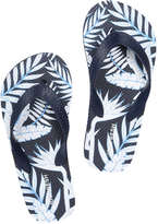 Joe Fresh Kid Boys' Flip Flops, Blue (Size L)
