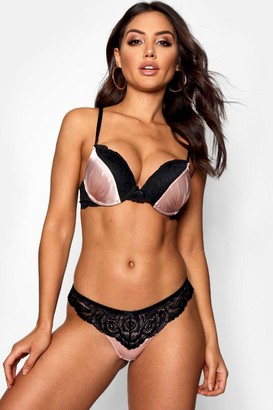 boohoo Super Push Up Satin Bra