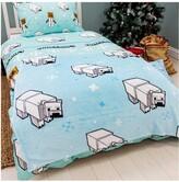 Thumbnail for your product : Minecraft Polar Bear Christmas Fleece Blanket