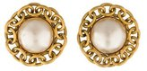 Chanel Pearl Clip On Earrings