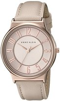 Anne Klein Women's AK/1928RGLP Easy To Read Dial Blush Pink Leather Strap Watch