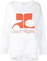 Courreges logo sweatshirt - women - Cotton - 1