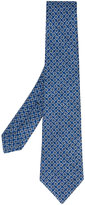 Kiton white and yellow circle spot tie