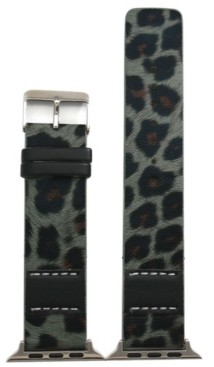 Nimitec Stitched Cheetah Leather Apple Watch Band