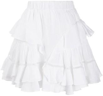 Etoile Isabel Marant Ruffle Trimmed Mini Skirt