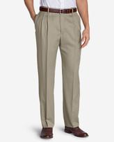 Eddie Bauer Men's Relaxed Fit Pleated Comfort Waist Wool Gabardine Trousers