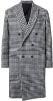 Ami Alexandre Mattiussi plaid double breasted coat