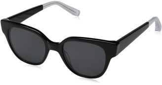 Elizabeth and James Women's Avory Wayfarer Sunglasses Black 49 mm