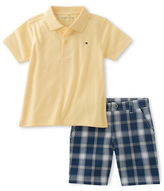 Tommy Hilfiger Two-Piece Polo and Plaid Shorts Set